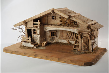 Wooden Stable for 10 cm LEPI Nazarene Nativity
