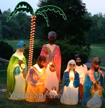 Life Size Outdoor Nativity Scene - No Wisemen - No Camel