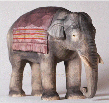 Huggler carved elephant