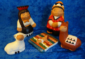 5pc Peruvian nativity