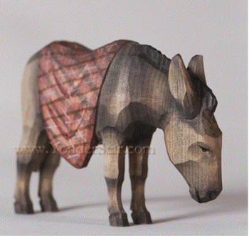 Swiss carved donkey