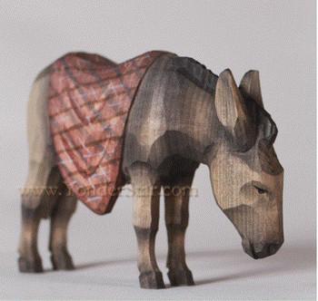 Swiss carved donkey