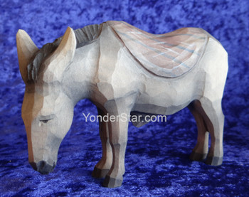 Donkey with Blanket - Huggler Nativity Woodcarving