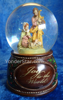 Musical Fontanini Nativity Glitterdome Joy To The World 59088