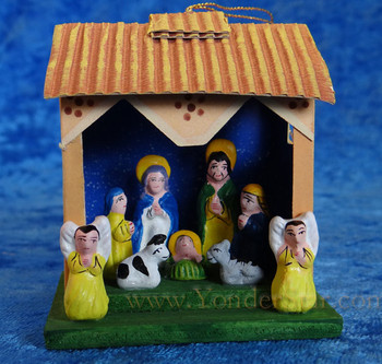 Ceramic nativity Peru