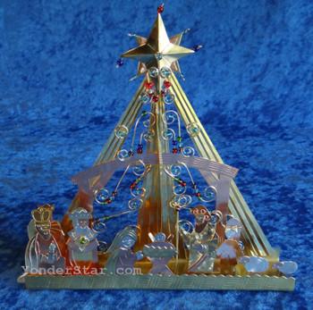 Brilliant Star Metal Nativity Scene Thailand