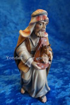 Shepherd w Goat LEPI Nazarene Wooden Nativity