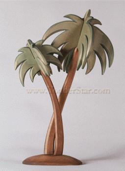 Wood carved palm tree