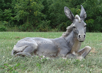 outdoor nativity seated donkey