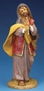 "Daniel - 18"" Fontanini Nativity Shepherd with Flute 53736"