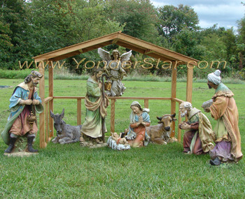 Outdoor Nativity Scene 9 pieces - Pre-order 2021