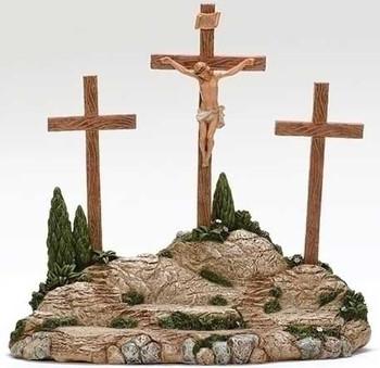 Fontanini nativity crucifixion scene