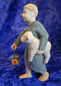Boy with Lantern and Lamb - Huggler Swiss Nativity