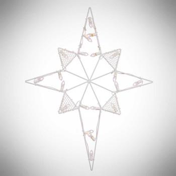 "39"" Lighted Outdoor Star White C7 Bulbs"