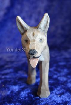 Shepherd Dog - Huggler Nativity Woodcarving - 14cm Scale