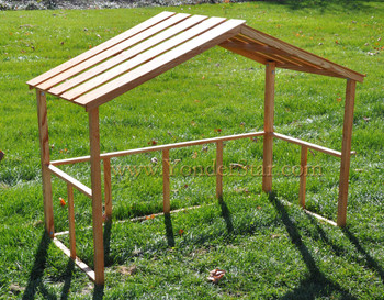 Wooden Stable for Large Outdoor Nativity Set