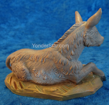 "Donkey Seated - 5"" Fontanini Nativity Animal 54017"