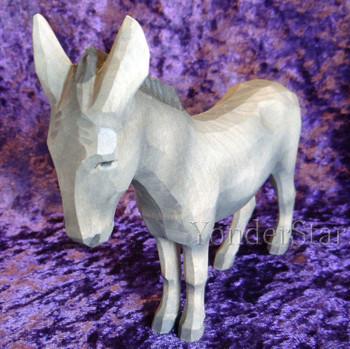 Huggler nativity standing donkey.