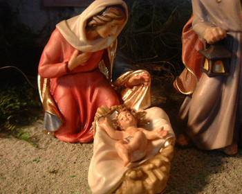 Nazarene Holy Family for LEPI Wooden Nativity