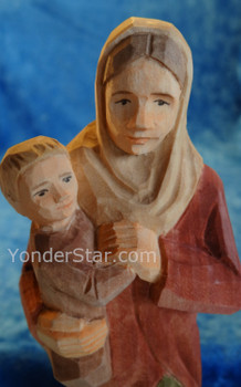 Swiss nativity woman and child