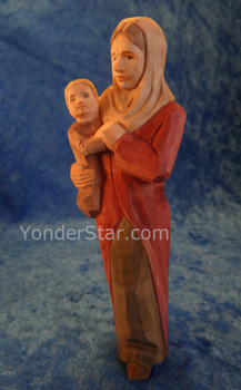 Nativity woman with baby