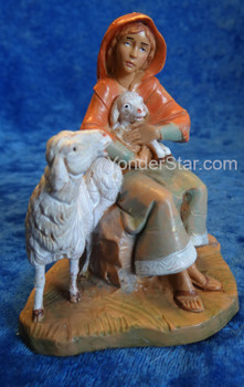 "Nahome - 5"" Fontanini Nativity Shepherdess w Sheep 57520"