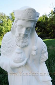Wiseman Gaspar White Outdoor Nativity King
