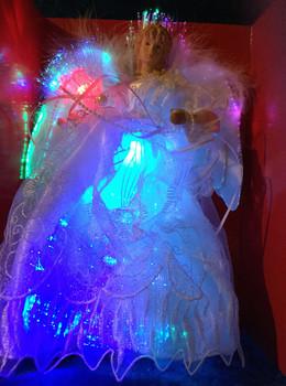 Fiber Optic Angel Tree Topper