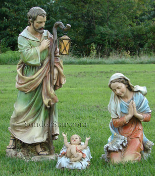 "Outdoor Nativity Full Color Holy Family - 27"" Joseph's Studio Outdoor Nativity - 39530  - Pre-order 2021"