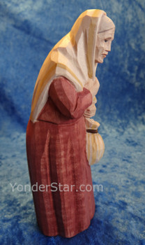 Huggler Nativity Old Woman