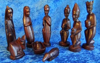 African nativity set musave wood