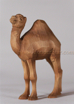 Huggler wood carved nativity camel
