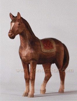 Swiss wodd carved horse