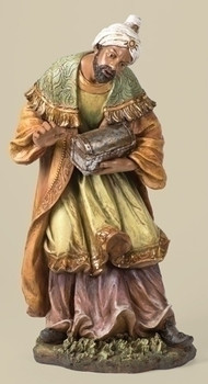 large outdoor nativity african wiseman