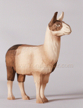 Huggler Swiss carved llama