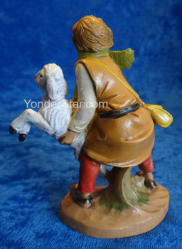 "Aaron - 5"" Fontanini Nativity Shepherd w Sheep 72563"
