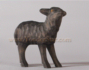 Swiss carved black lamb