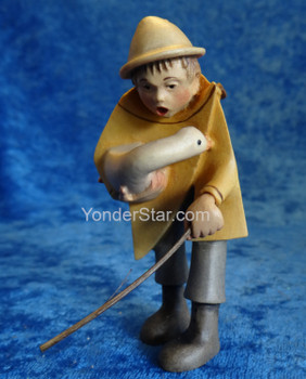 Kastlunger Goose Herder for LEPI Kastlunger Wooden Nativity