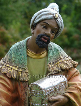 African Wiseman Balthasar for Outdoor Nativity - 38013