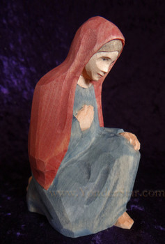 Huggler wooden nativity figure