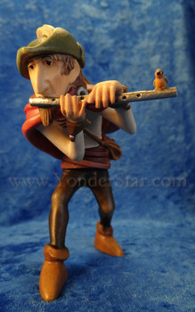 Kastlunger Piper/Flute Player for LEPI Kastlunger Wooden Nativity