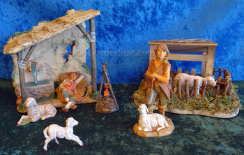 "Shepherds' Shelter Scene - 5"" Fontanini Nativity Shepherds s55571"