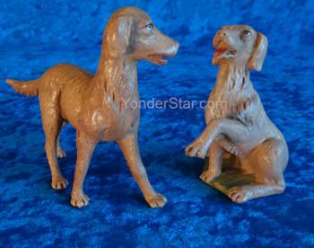 "Dogs Set of 2 - 12"" Fontanini Nativity Animals 52903"