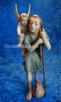 Shepherd w Whispering Angel LEPI Venetian Nativity
