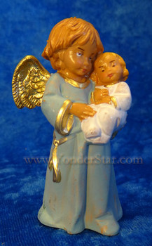 "Bless This Child - 5"" Fontanini Angel with Infant Blue 65518"