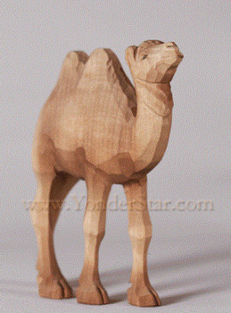 Huggler wood nativity camel
