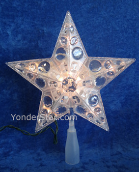 Jewel Star Tree Topper Clear Lights