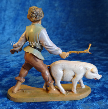 "Clement - 5"" Fontanini Nativity Boy with Pig 54088"