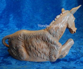 "Donkey Seated- 7.5"" Fontanini Nativity Animal 52833"