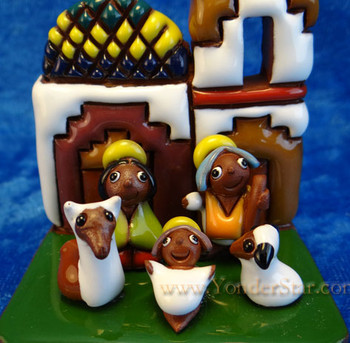 Fair Trade Tiwanaku nativity - Bolivia